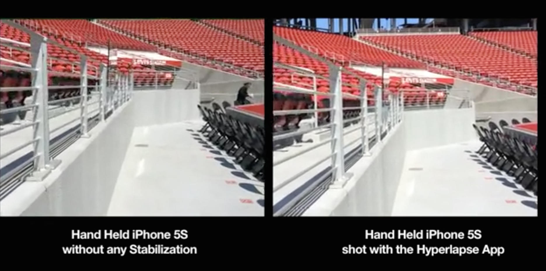iPhone video Stabilization with Hyperlapse