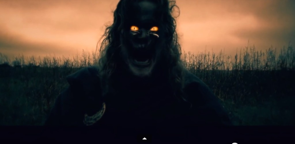 Demonic special effects in a mobile movie: