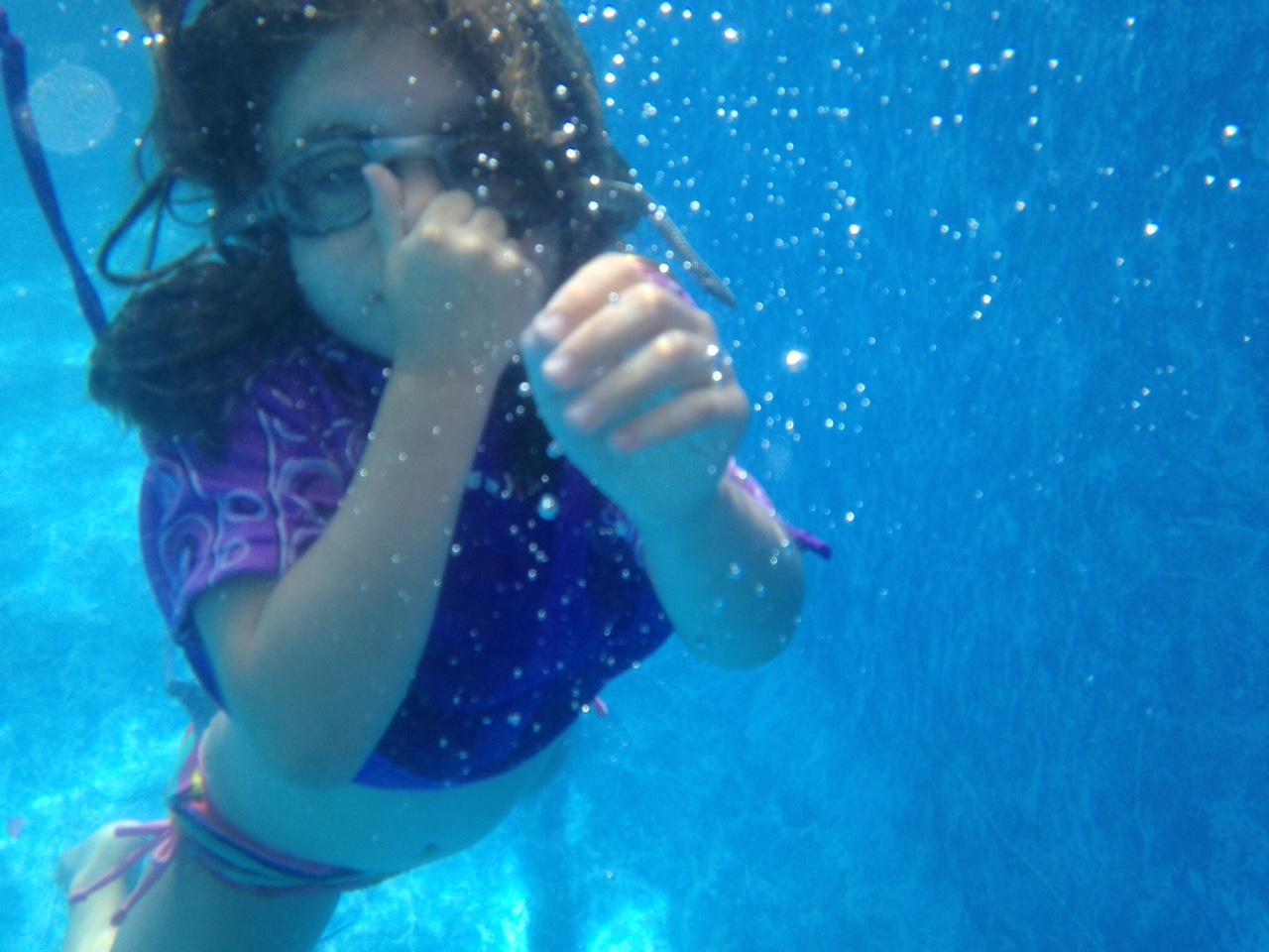 Underwater slide