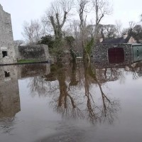 The aftermath of Storm Desmond at  Ross Castle